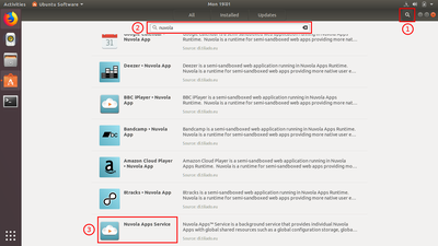 Launch Ubuntu Software and search for 'Nuvola Apps'.